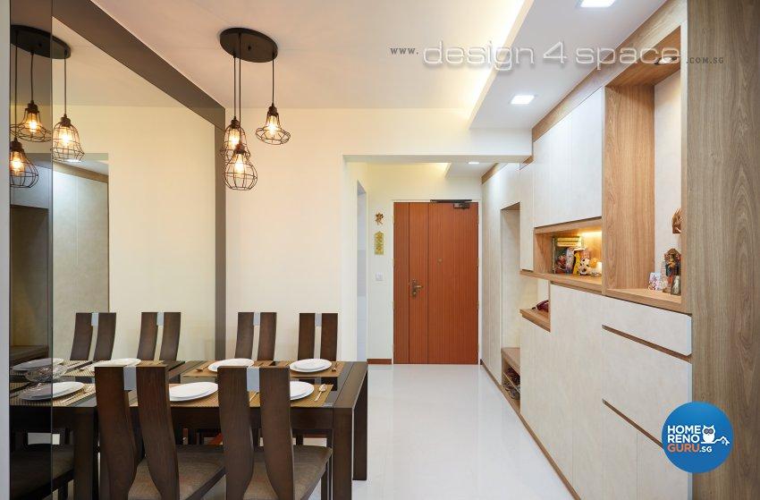 Contemporary, Modern Design - Dining Room - HDB 3 Room - Design by Design 4 Space Pte Ltd