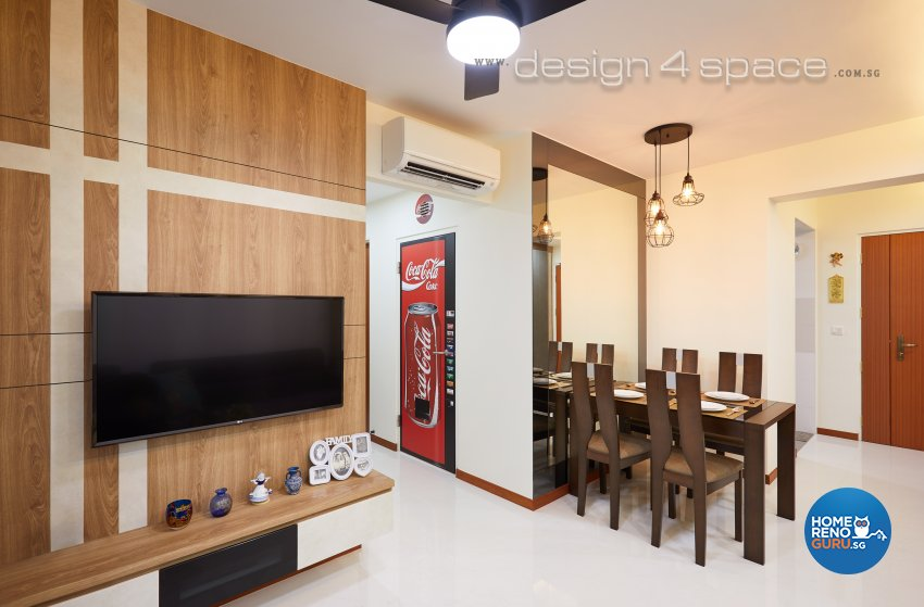 Contemporary, Modern Design - Living Room - HDB 3 Room - Design by Design 4 Space Pte Ltd