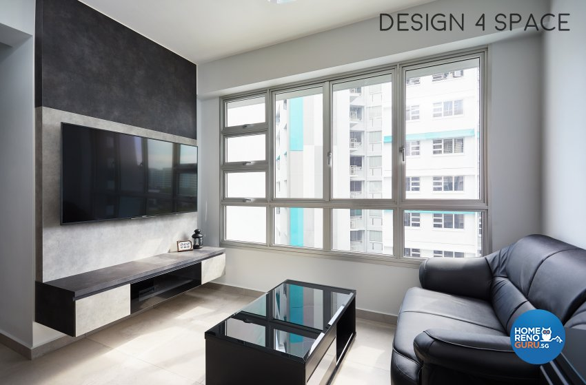Contemporary, Minimalist Design - Living Room - HDB 3 Room - Design by Design 4 Space Pte Ltd