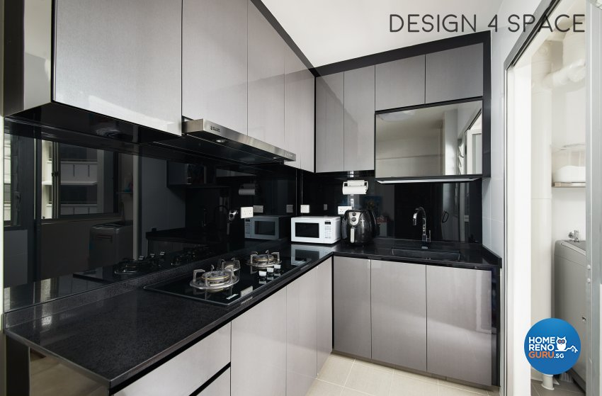 Contemporary, Minimalist Design - Kitchen - HDB 3 Room - Design by Design 4 Space Pte Ltd