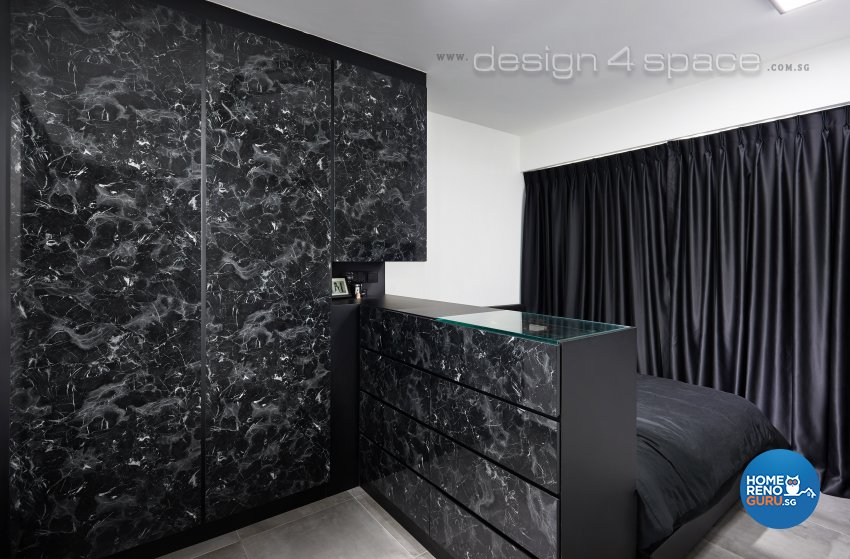 Contemporary, Modern Design - Bedroom - HDB 3 Room - Design by Design 4 Space Pte Ltd