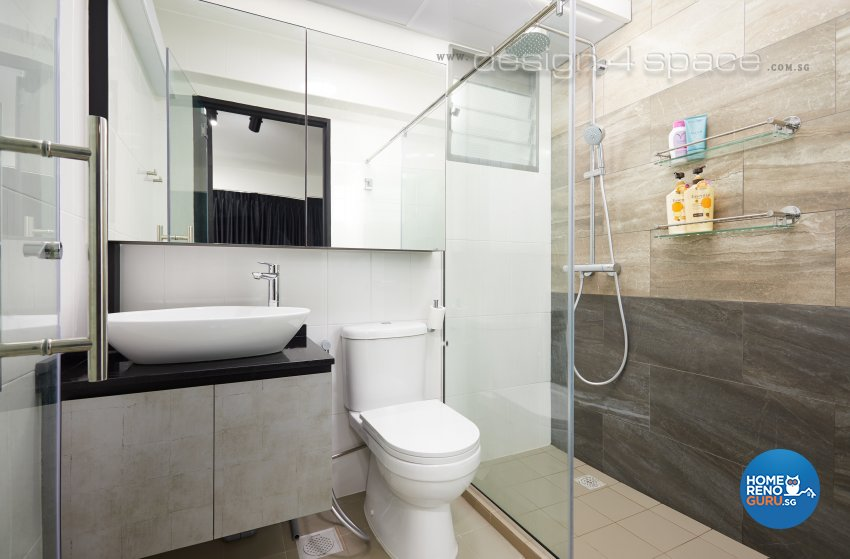 Contemporary, Modern Design - Bathroom - HDB 3 Room - Design by Design 4 Space Pte Ltd