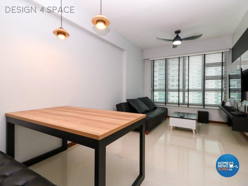 Contemporary, Minimalist, Modern Design - Living Room - HDB 3 Room - Design by Design 4 Space Pte Ltd