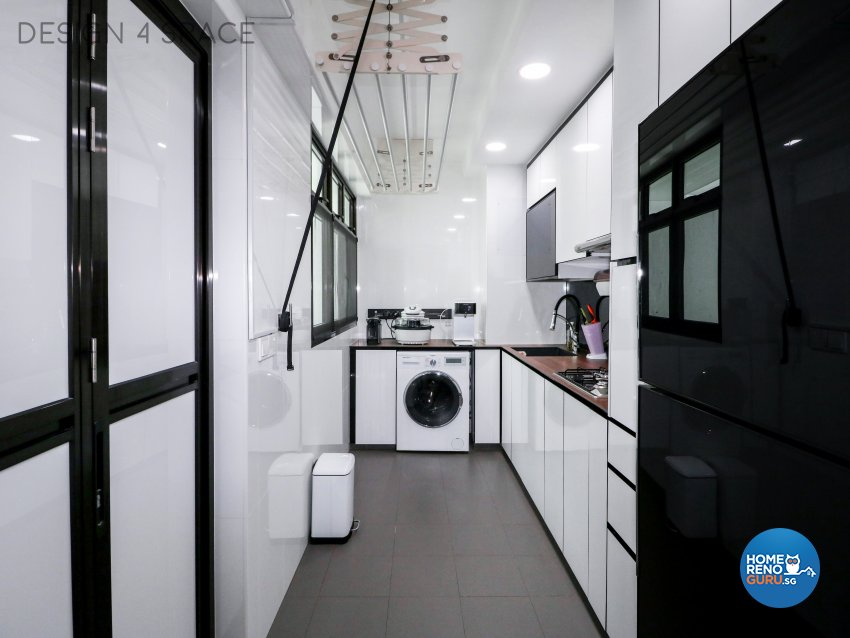 Contemporary, Minimalist, Modern Design - Kitchen - HDB 3 Room - Design by Design 4 Space Pte Ltd