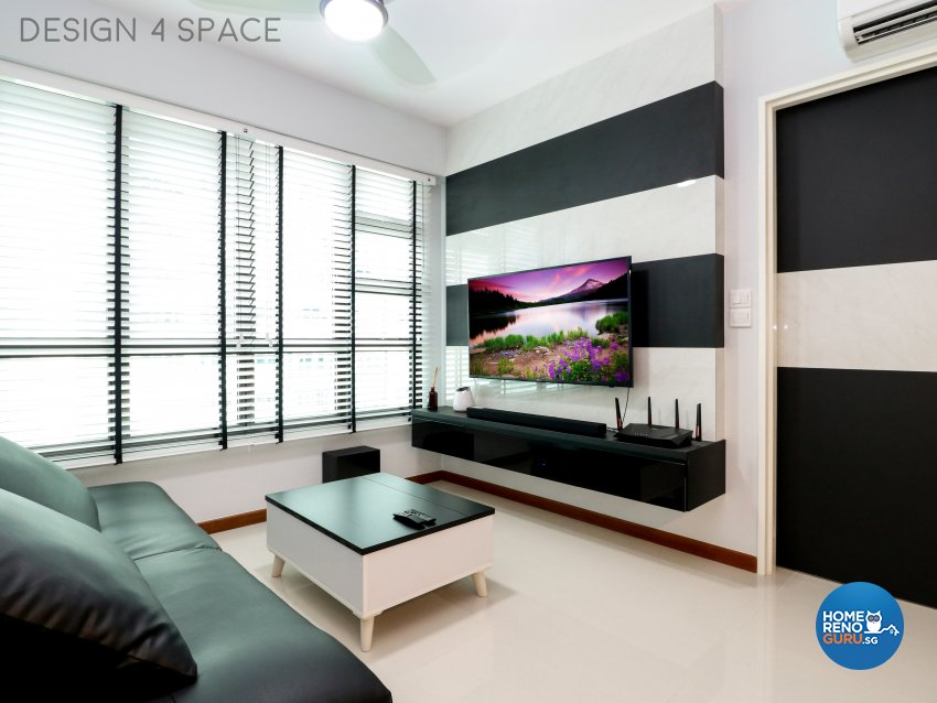 Contemporary, Minimalist, Modern Design - Living Room - HDB 3 Room - Design by Design 4 Space Pte Ltd