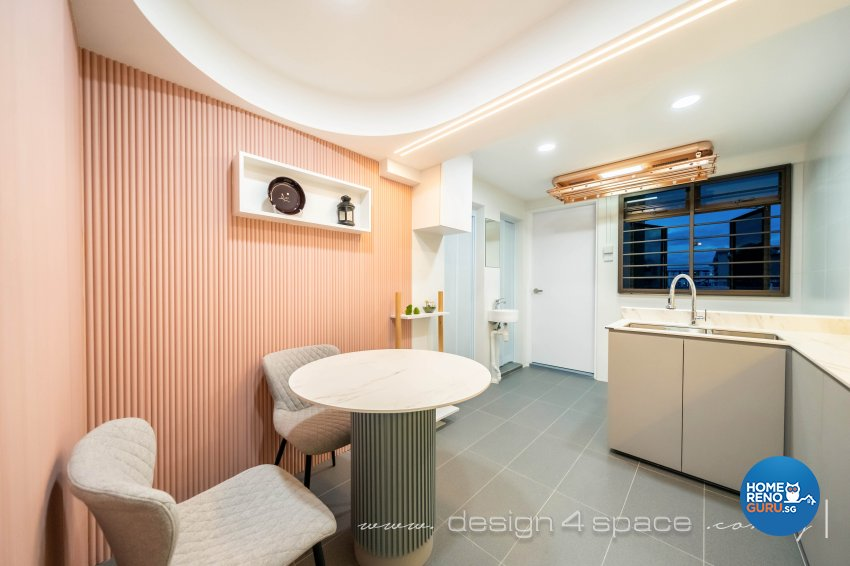Modern Design - Dining Room - HDB 3 Room - Design by Design 4 Space Pte Ltd