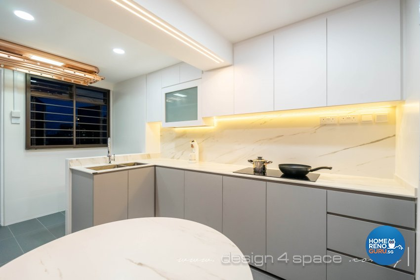 Modern Design - Kitchen - HDB 3 Room - Design by Design 4 Space Pte Ltd