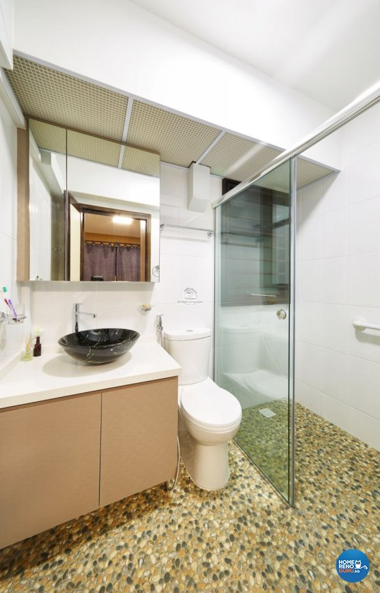Contemporary, Modern Design - Bathroom - HDB 3 Room - Design by Design 4 Space Pte Ltd