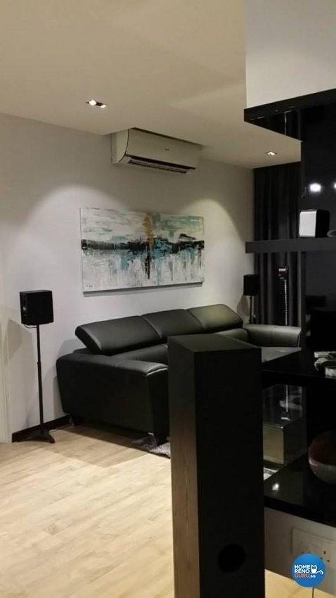 Minimalist, Modern Design - Living Room - HDB 4 Room - Design by Design 4 Space Pte Ltd
