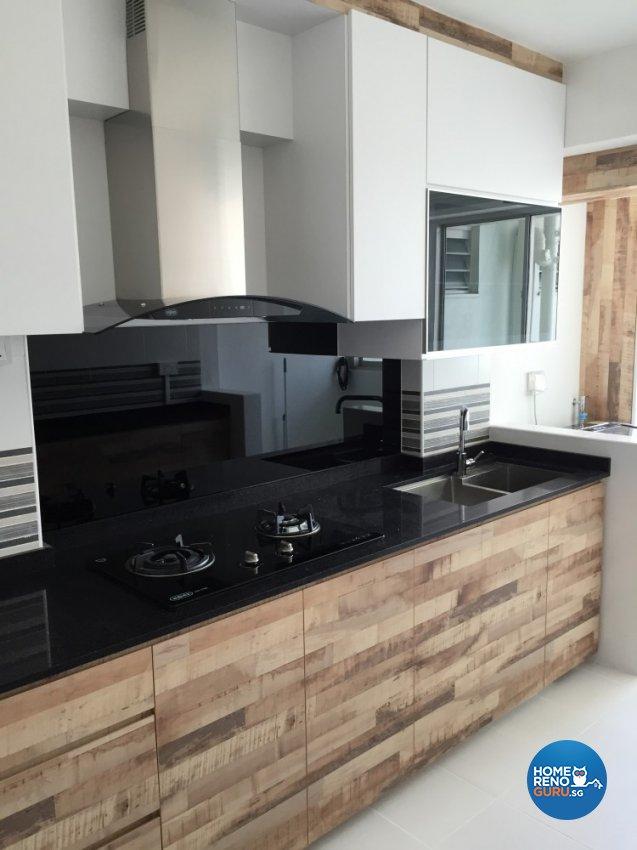 Contemporary, Minimalist Design - Kitchen - HDB 4 Room - Design by Design 4 Space Pte Ltd