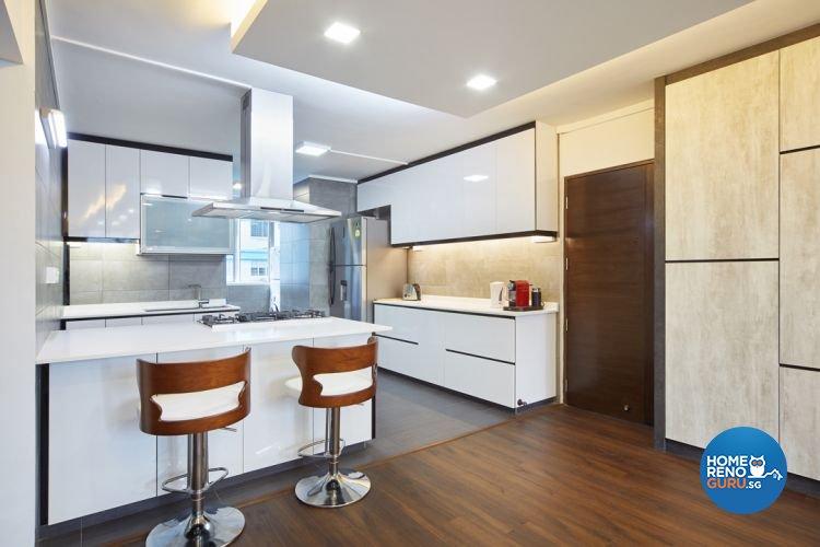 Contemporary, Modern Design - Dining Room - HDB 4 Room - Design by Design 4 Space Pte Ltd