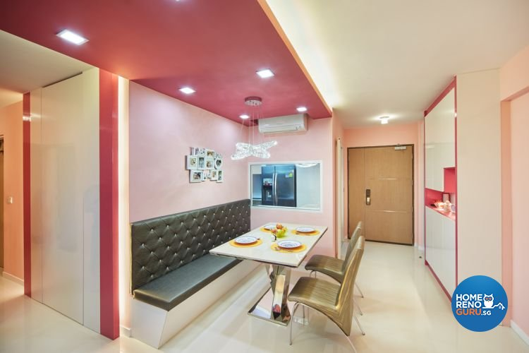 Minimalist, Modern Design - Dining Room - HDB 4 Room - Design by Design 4 Space Pte Ltd