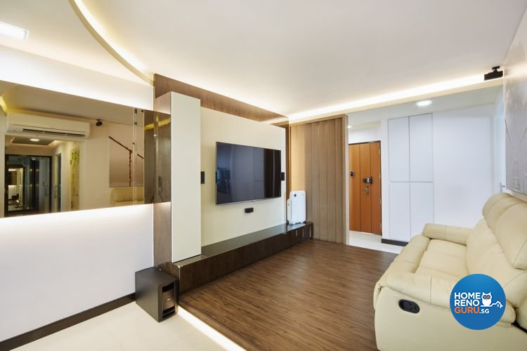 Modern, Scandinavian Design - Living Room - HDB 5 Room - Design by Design 4 Space Pte Ltd