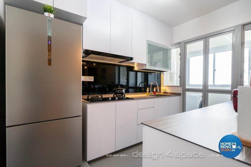 Modern, Scandinavian Design - Kitchen - HDB 4 Room - Design by Design 4 Space Pte Ltd