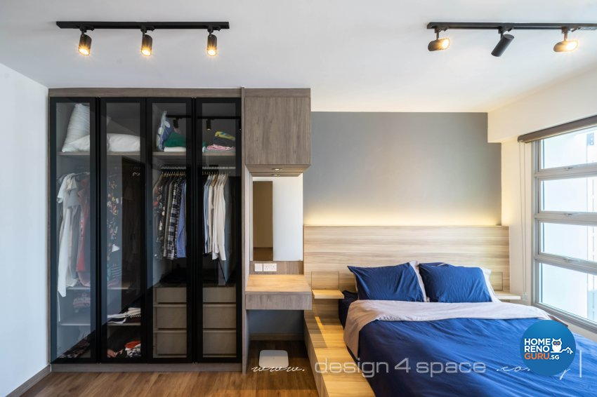 Modern, Scandinavian Design - Bedroom - HDB 4 Room - Design by Design 4 Space Pte Ltd
