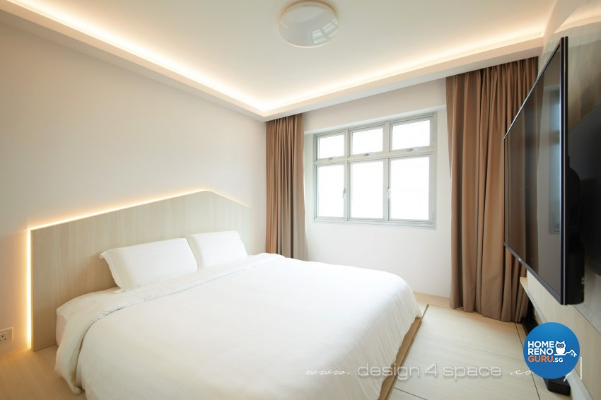 Contemporary Design - Bedroom - HDB 4 Room - Design by Design 4 Space Pte Ltd