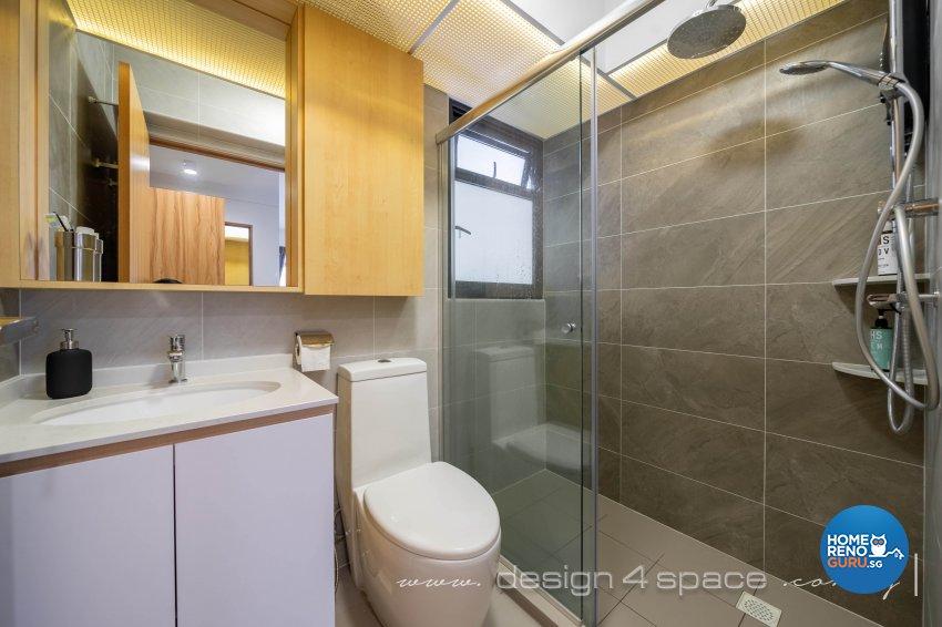 Minimalist, Scandinavian Design - Bathroom - HDB 4 Room - Design by Design 4 Space Pte Ltd