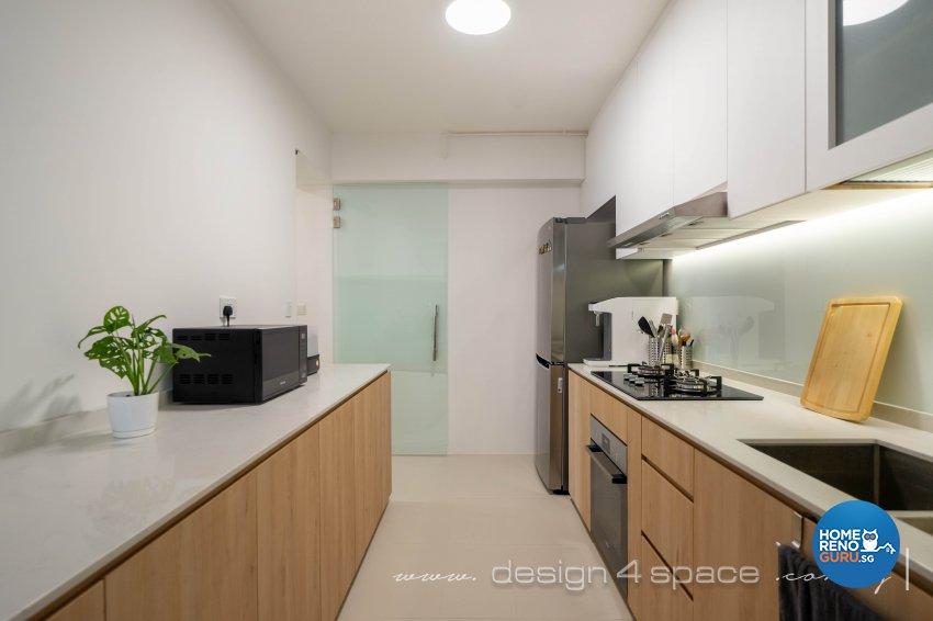 Minimalist, Scandinavian Design - Kitchen - HDB 4 Room - Design by Design 4 Space Pte Ltd