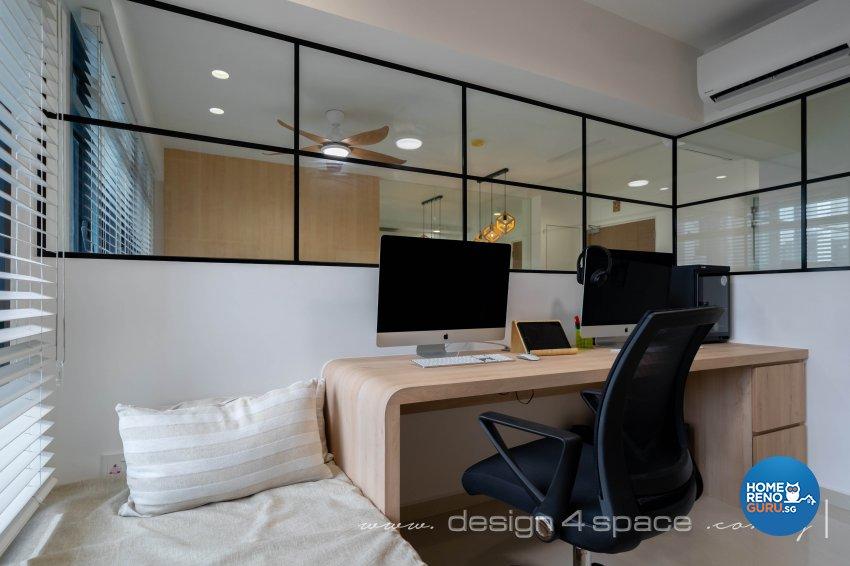 Minimalist, Scandinavian Design - Study Room - HDB 4 Room - Design by Design 4 Space Pte Ltd