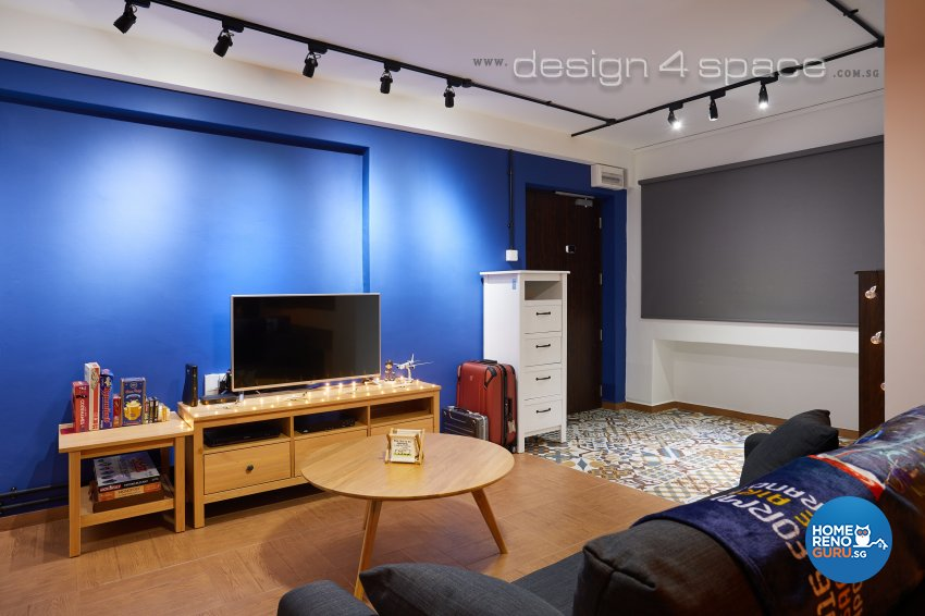 Contemporary, Industrial, Rustic Design - Living Room - HDB 4 Room - Design by Design 4 Space Pte Ltd