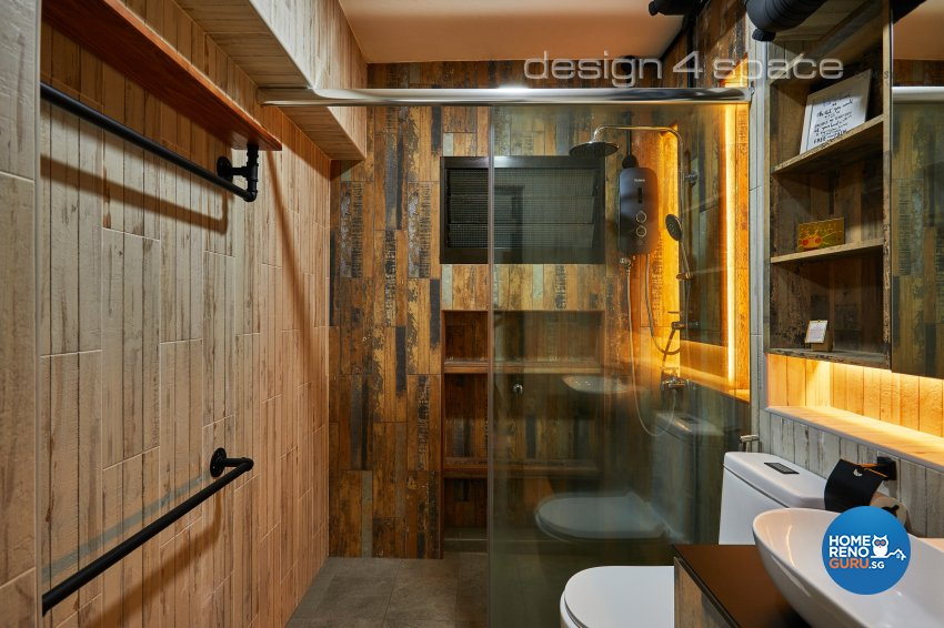 Contemporary, Industrial, Rustic Design - Bedroom - HDB 4 Room - Design by Design 4 Space Pte Ltd