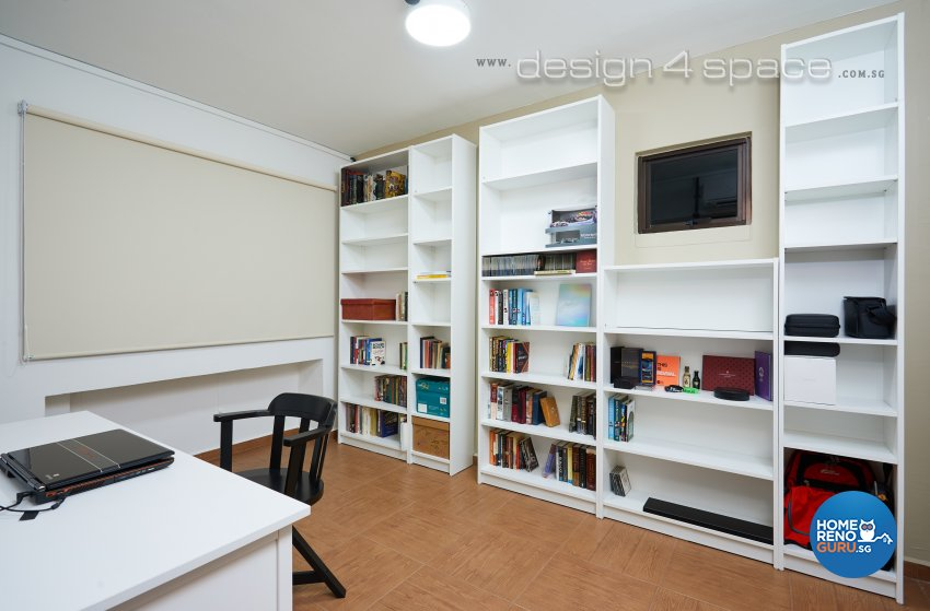 Contemporary, Industrial, Rustic Design - Study Room - HDB 4 Room - Design by Design 4 Space Pte Ltd