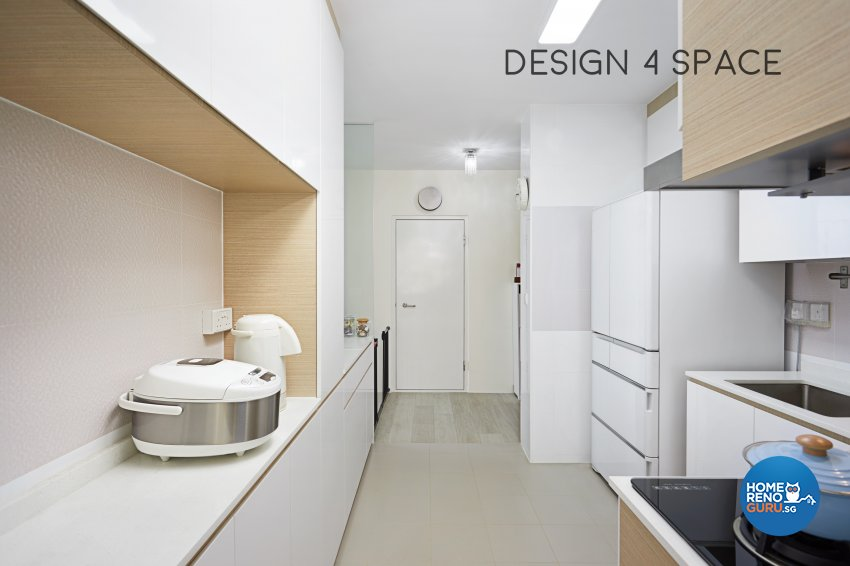 Contemporary, Minimalist Design - Kitchen - HDB 4 Room - Design by Design 4 Space Pte Ltd