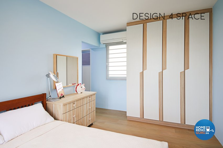 Contemporary, Minimalist Design - Bedroom - HDB 4 Room - Design by Design 4 Space Pte Ltd