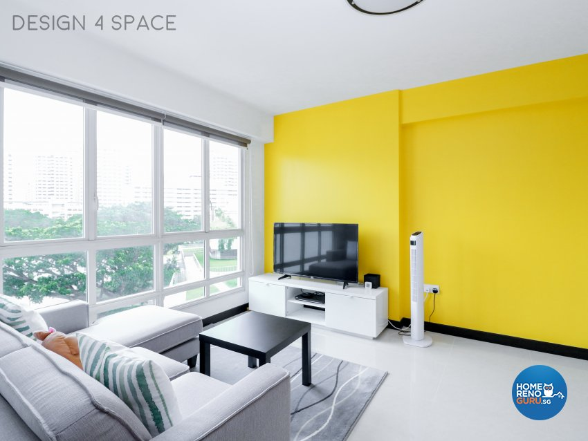 Contemporary, Minimalist, Modern Design - Living Room - HDB 4 Room - Design by Design 4 Space Pte Ltd