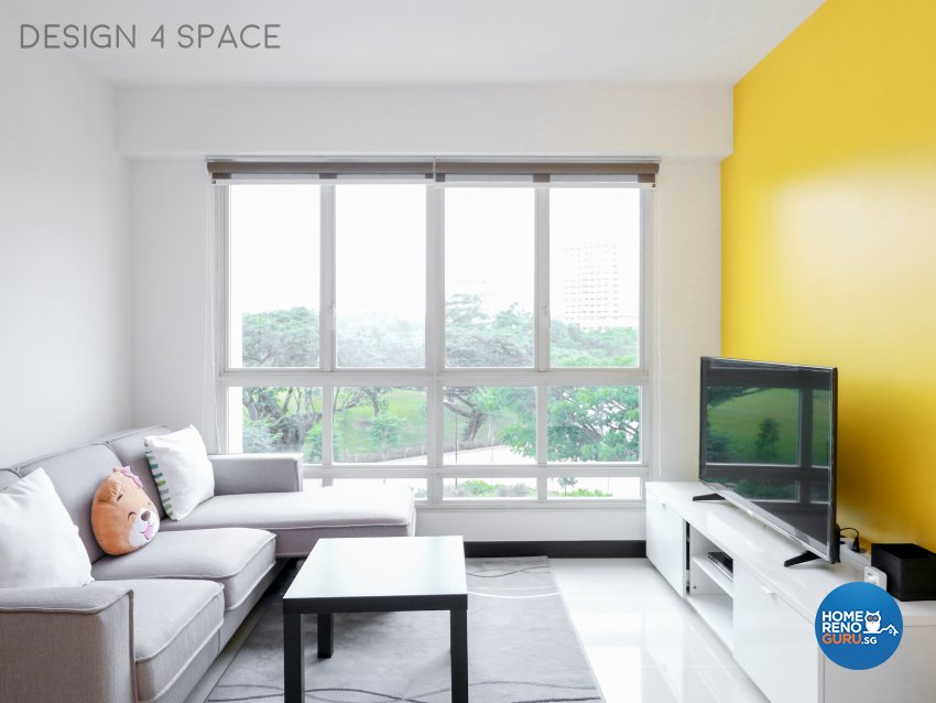 Contemporary, Minimalist, Modern Design - Living Room - HDB 4 Room - Design by Design 4 Space Pte Ltd
