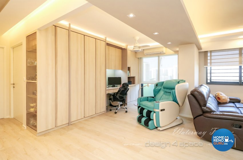 Contemporary Design - Living Room - HDB 4 Room - Design by Design 4 Space Pte Ltd