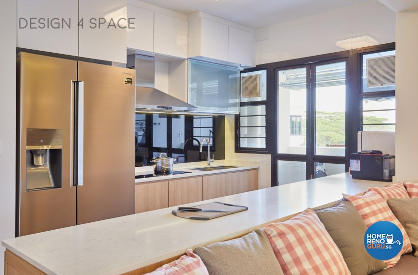 Contemporary, Country, Modern Design - Kitchen - HDB 4 Room - Design by Design 4 Space Pte Ltd