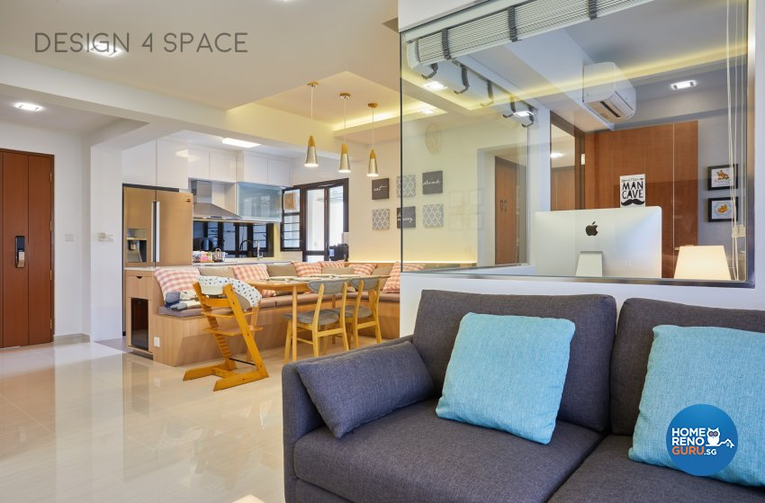 Contemporary, Country, Modern Design - Living Room - HDB 4 Room - Design by Design 4 Space Pte Ltd