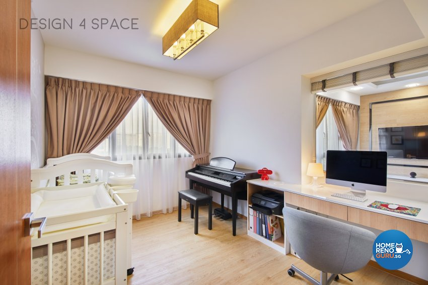 Contemporary, Country, Modern Design - Study Room - HDB 4 Room - Design by Design 4 Space Pte Ltd