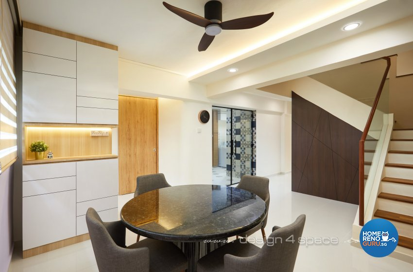 Modern, Scandinavian Design - Dining Room - HDB 4 Room - Design by Design 4 Space Pte Ltd
