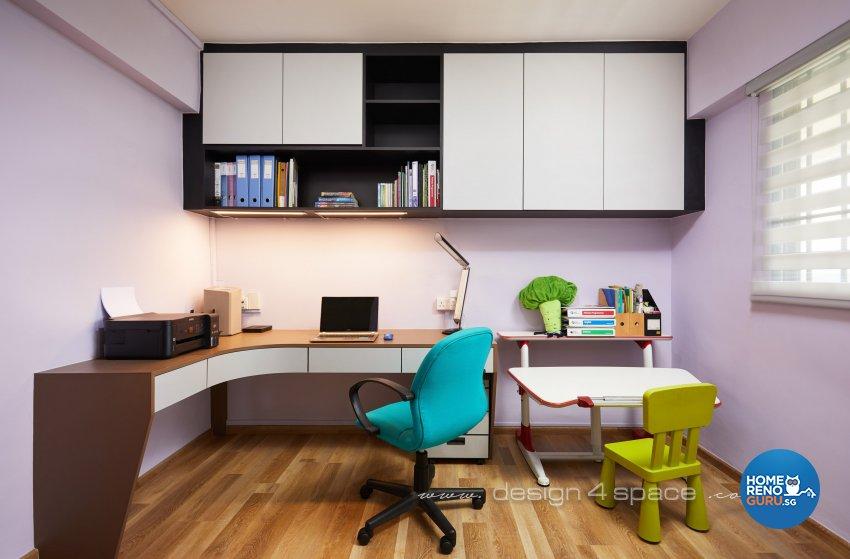 Modern, Scandinavian Design - Study Room - HDB 4 Room - Design by Design 4 Space Pte Ltd