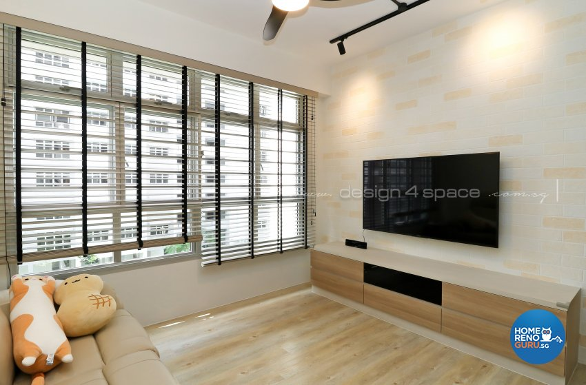 Contemporary, Scandinavian Design - Living Room - HDB 4 Room - Design by Design 4 Space Pte Ltd