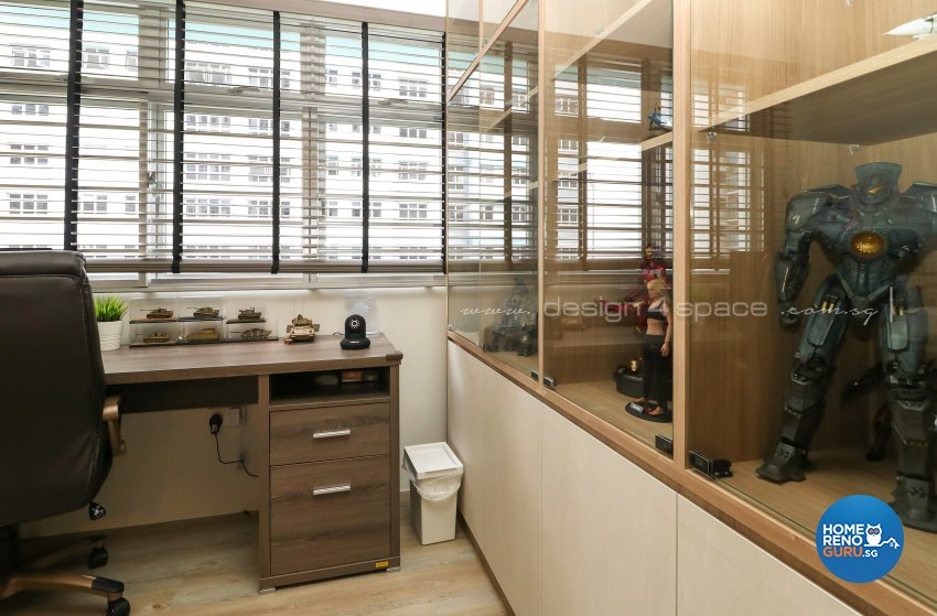 Contemporary, Scandinavian Design - Study Room - HDB 4 Room - Design by Design 4 Space Pte Ltd