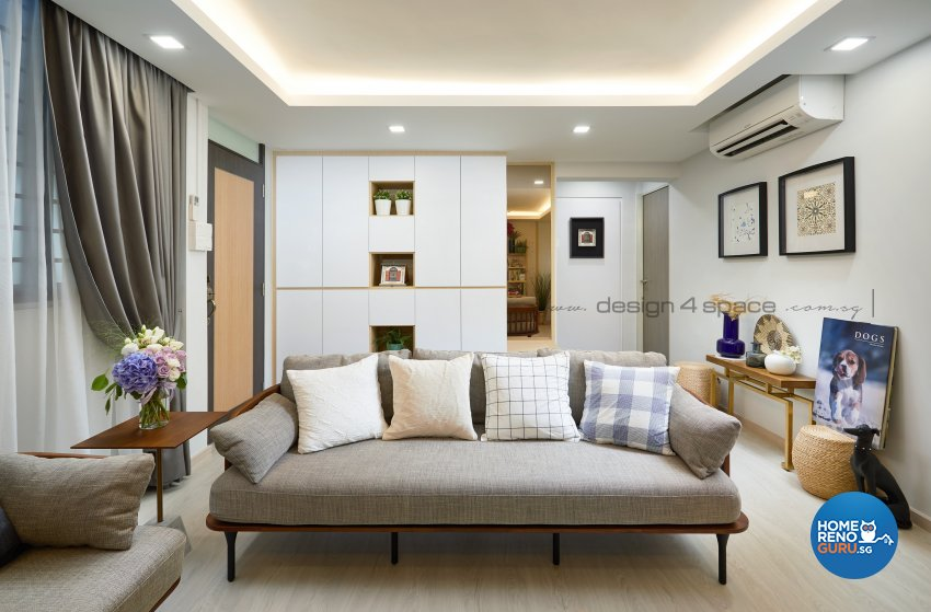 Scandinavian Design - Living Room - HDB 4 Room - Design by Design 4 Space Pte Ltd