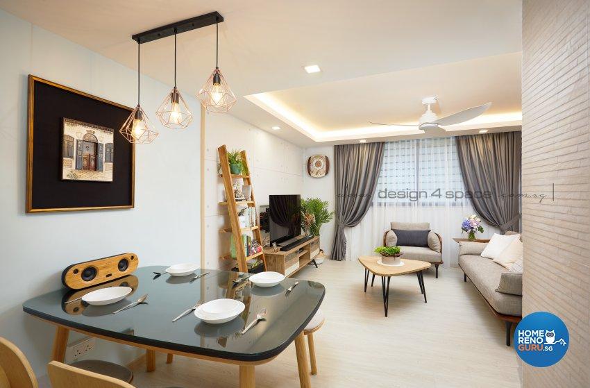 Scandinavian Design - Living Room - HDB 4 Room - Design by Design 4 Space Pte Ltd