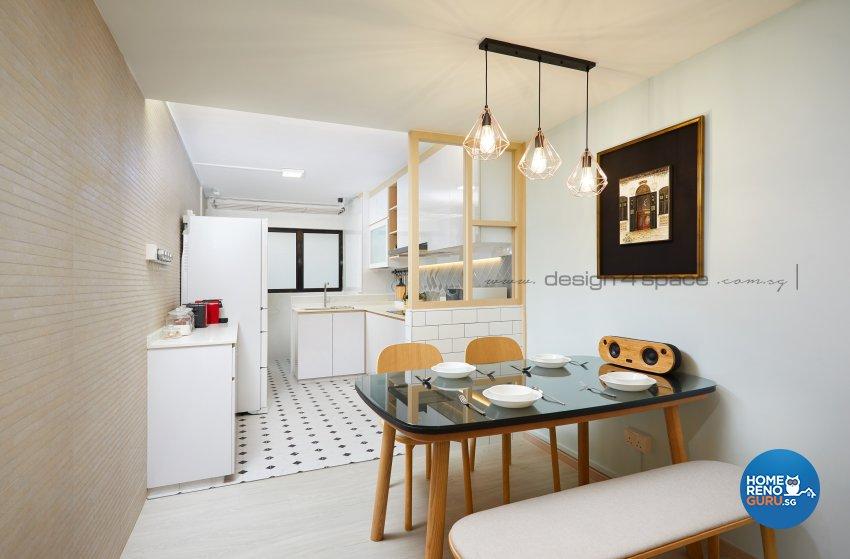 Scandinavian Design - Dining Room - HDB 4 Room - Design by Design 4 Space Pte Ltd