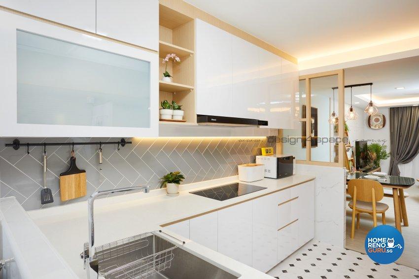 Scandinavian Design - Kitchen - HDB 4 Room - Design by Design 4 Space Pte Ltd