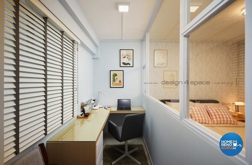 Scandinavian Design - Study Room - HDB 4 Room - Design by Design 4 Space Pte Ltd