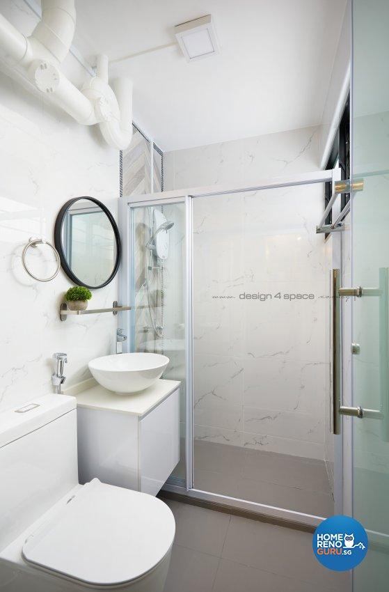 Scandinavian Design - Bathroom - HDB 4 Room - Design by Design 4 Space Pte Ltd