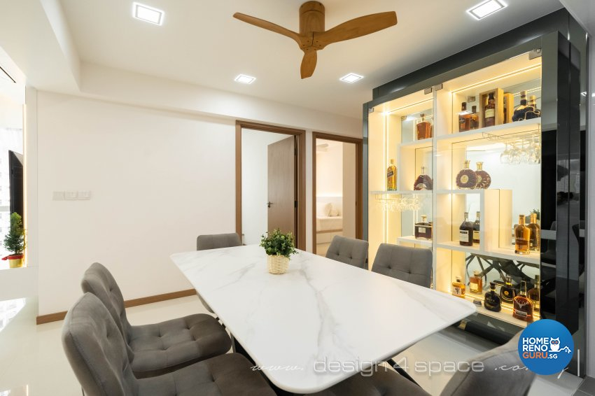 Contemporary, Minimalist Design - Dining Room - HDB 4 Room - Design by Design 4 Space Pte Ltd
