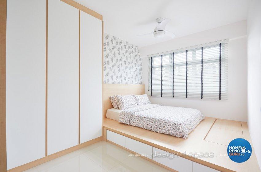 Minimalist, Scandinavian Design - Bedroom - HDB 4 Room - Design by Design 4 Space Pte Ltd