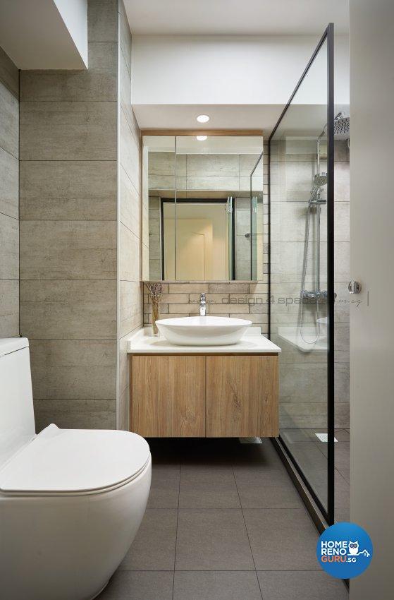 Contemporary, Scandinavian Design - Bathroom - HDB 4 Room - Design by Design 4 Space Pte Ltd