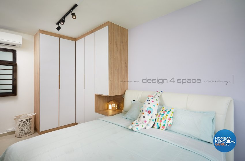 Contemporary, Scandinavian Design - Bedroom - HDB 4 Room - Design by Design 4 Space Pte Ltd