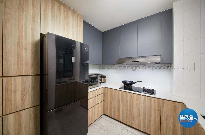 Contemporary, Scandinavian Design - Kitchen - HDB 4 Room - Design by Design 4 Space Pte Ltd