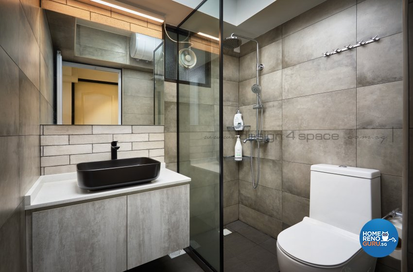 Contemporary, Scandinavian Design - Bathroom - HDB 4 Room - Design by Design 4 Space Pte Ltd